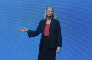 IBM CEO Ginni Rometty keynotes at the May 5 World of Watson event in Brooklyn, NY.
