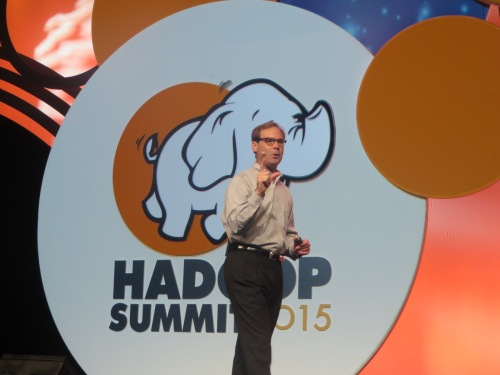 Hortonworks CEO Rob Bearden kicks off Hadoop Summit 2015.