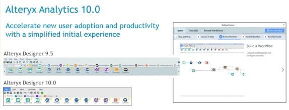 The Alteryx Analytics 10.0 release features a simplified interface aimed at speeding adoption by trial customers.