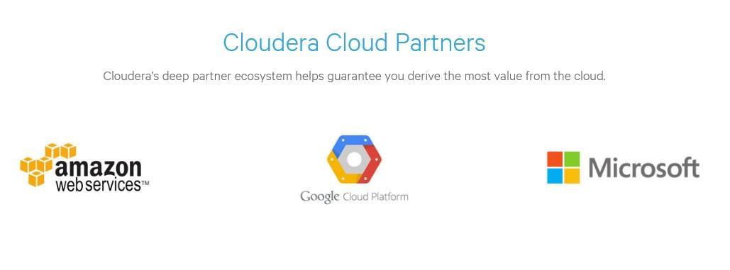 @Cloudera, @AWS, @Google, @Azure
