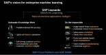@SAP, #SAPPHIRENOW, #MachineLearning