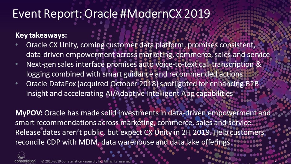 @ConstellationR, #ModernCX
